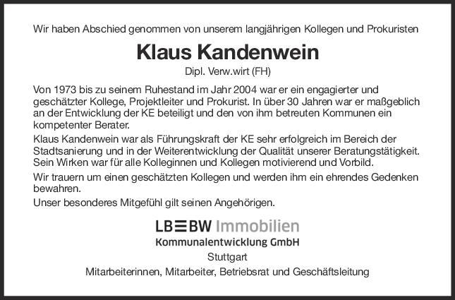 "Nachruf Kandenwein <br><p style=""font-size: 10px; text-align: center;"">18/06/2020</p>"