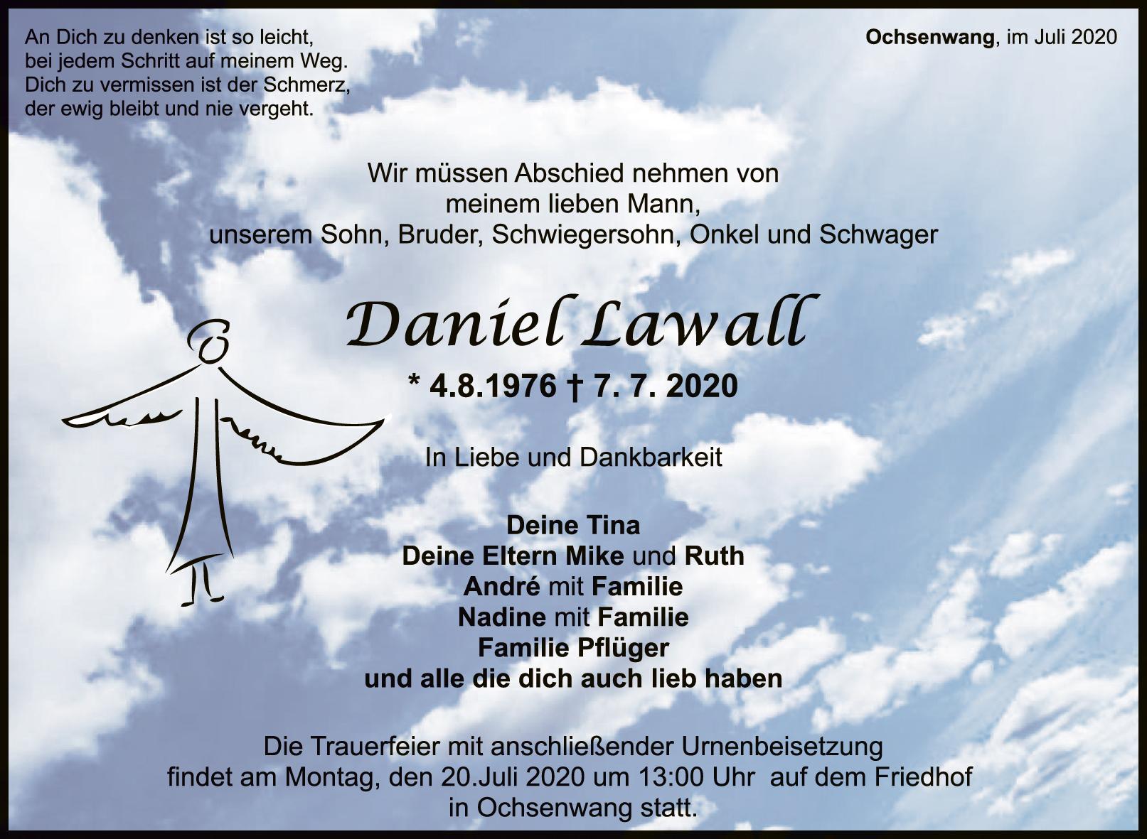 Trauer Daniel Lawall <br><p style=