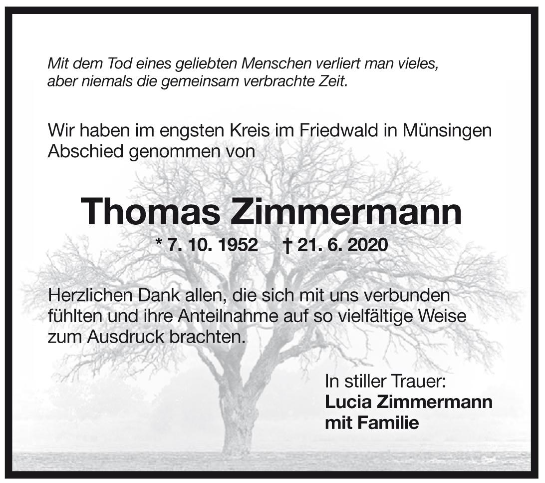 Trauer Thomas Zimmermann <br><p style=