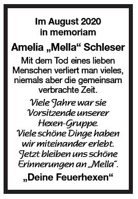 Nachruf Amelia