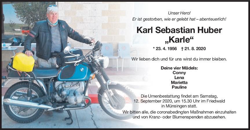 Trauer Karl Sebastian Huber