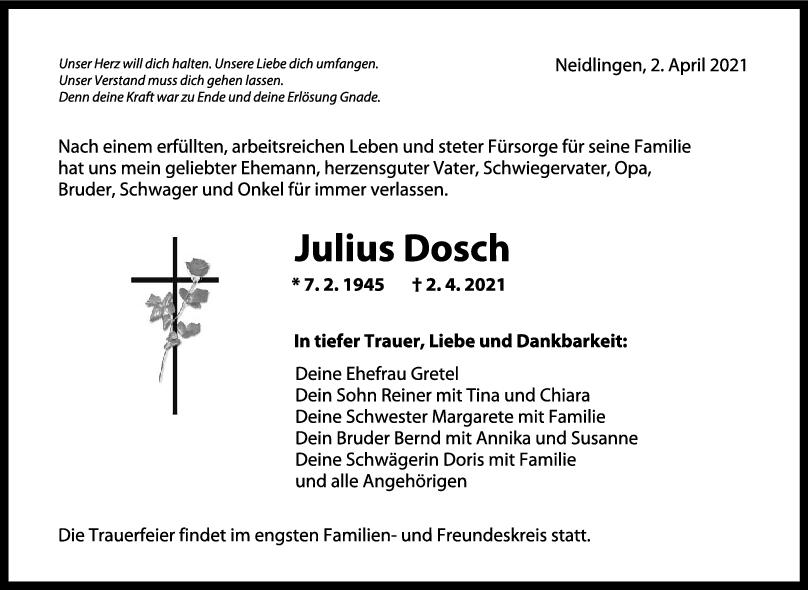 Trauer Julius Dosch <br><p style=
