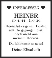 Nachruf Heinrich Deininger <br><p style=