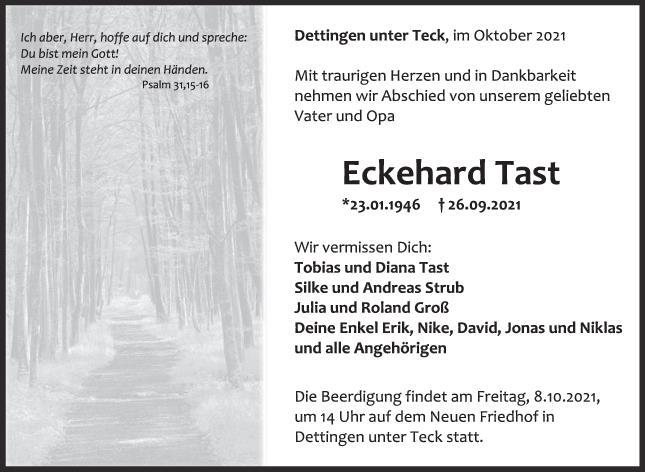 Trauer Eckehard Tast <br><p style=