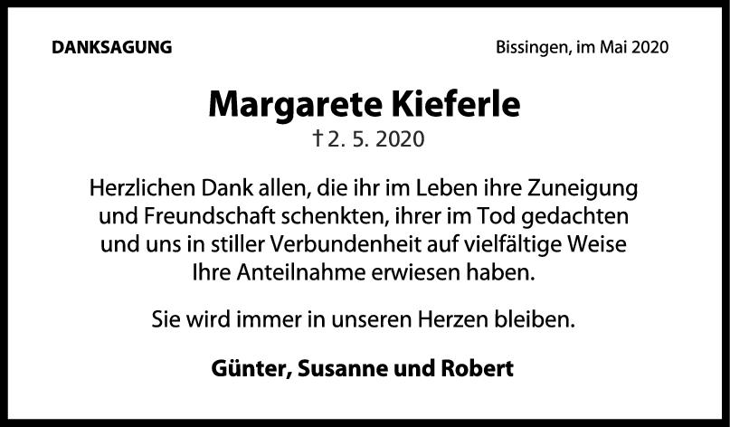 Danksagung Margarete Kieferle <br><p style=