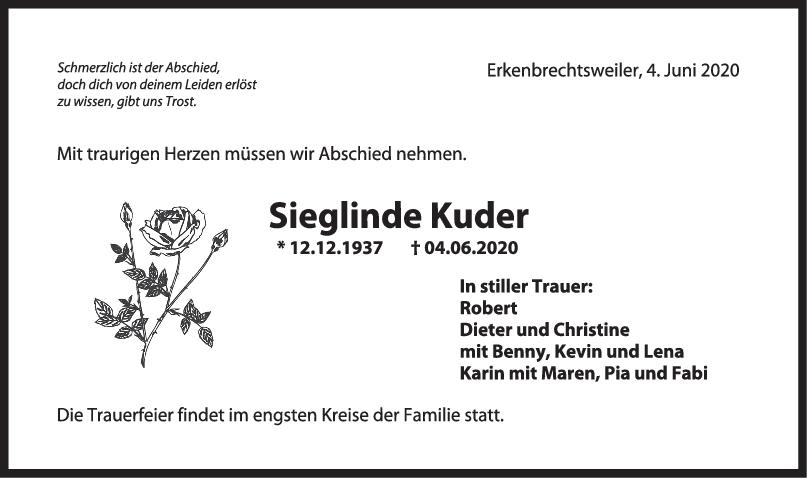 Trauer Sieglinde Kuder <br><p style=