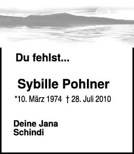 Nachruf Sybille Pohlner <br><p style=