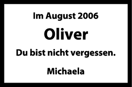 Nachruf Oliver <br><p style=