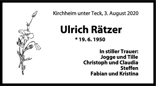 Trauer Ulrich Rätzer <br><p style=