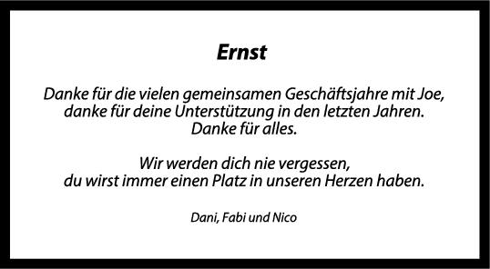 Trauer Ernst <br><p style=