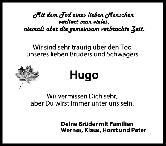 Trauer Hugo <br><p style=