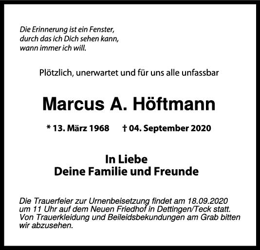 Trauer Marcus A. Höftmann <br><p style=