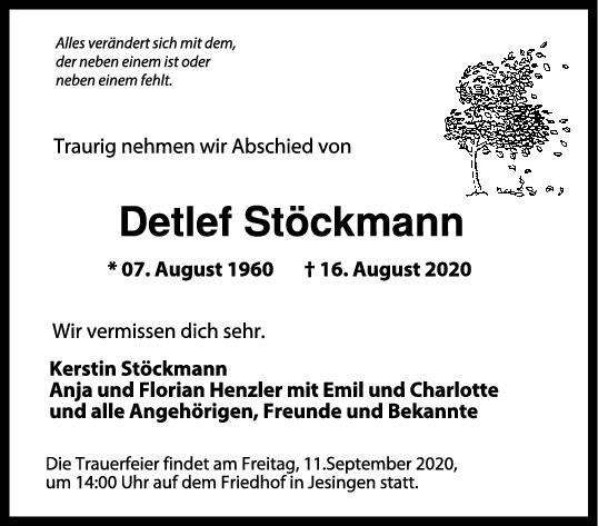 Trauer Detlef Stöckmann <br><p style=