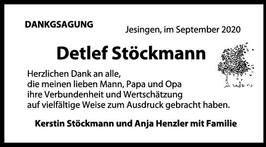 Danksagung Detlef Stöckmann <br><p style=