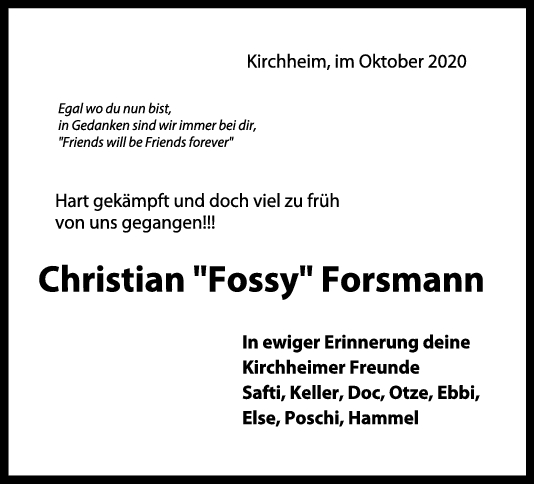 Nachruf Christian