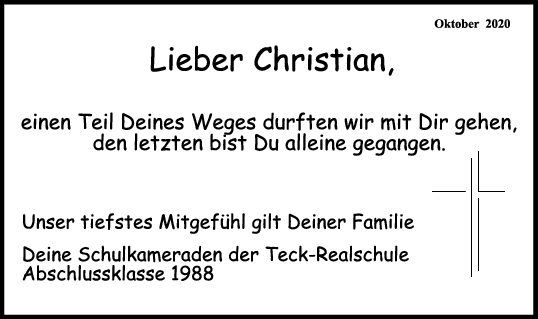 Trauer Christian Forsmann <br><p style=