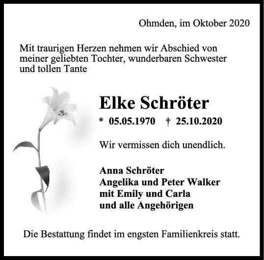 Trauer Elke Schröter <br><p style=