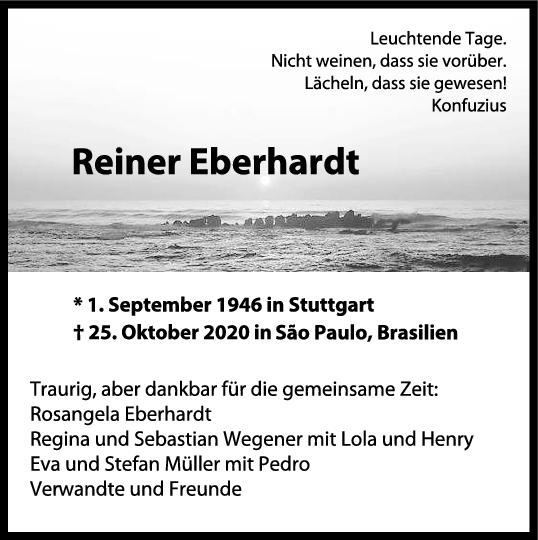 Trauer Reiner Eberhardt <br><p style=