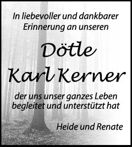 Nachruf Dötle Karl Kerner <br><p style=