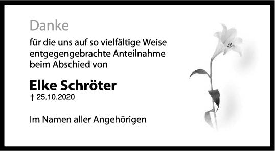 Danksagung Elke Schröter <br><p style=