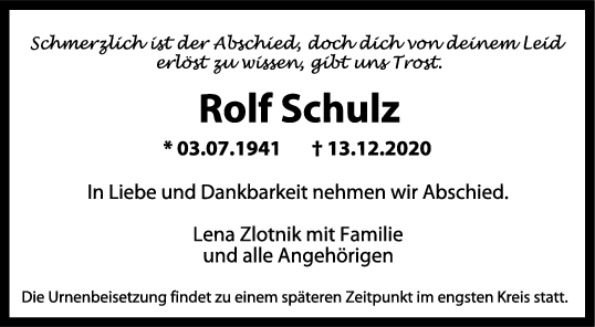 Trauer Rolf Schulz <br><p style=