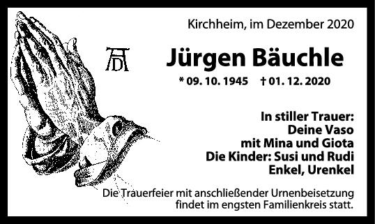 Trauer Jürgen Bäuchle <br><p style=