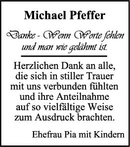 Danksagung Michael Pfeffer <br><p style=