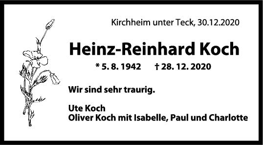 Trauer Heinz-Reinhard Koch <br><p style=