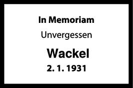 Nachruf Wackel <br><p style=