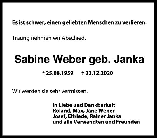 Trauer Sabine Weber <br><p style=