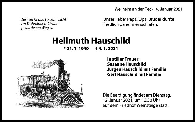 Trauer Hellmuth Hauschild <br><p style=