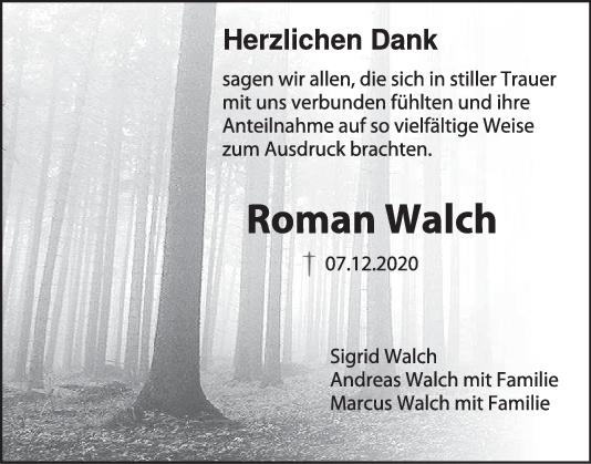 Danksagung Roman Walch <br><p style=