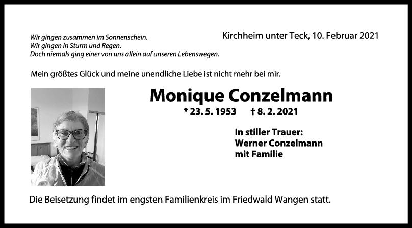 Trauer Monique Conzelmann <br><p style=