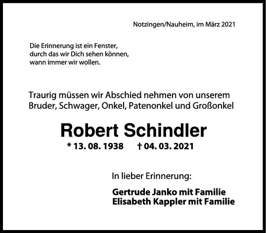 Trauer Robert Schindler <br><p style=
