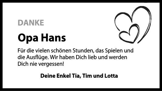 Nachruf Opa Hans <br><p style=