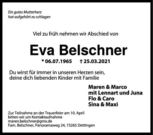 Trauer Eva Belschner <br><p style=