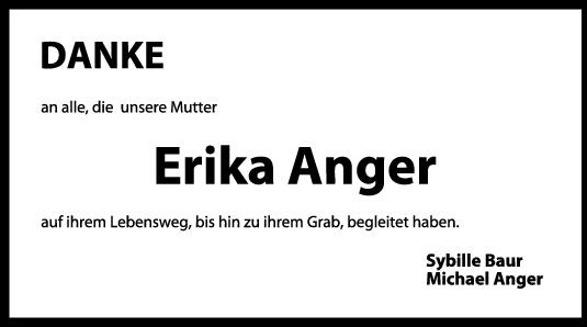Danksagung Erika Anger <br><p style=