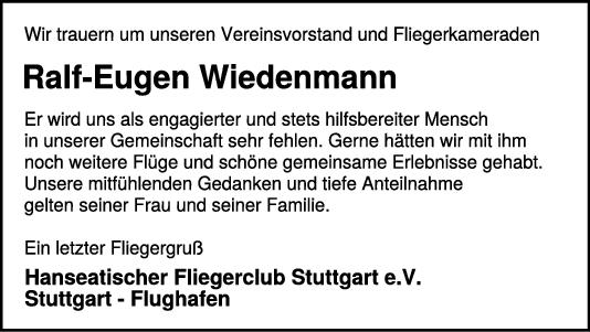 Trauer Ralf-Eugen Wiedenmann <br><p style=