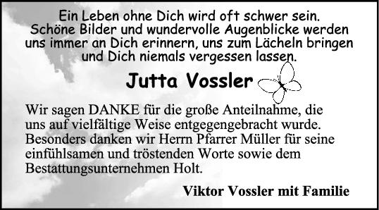 Danksagung Jutta Vossler <br><p style=