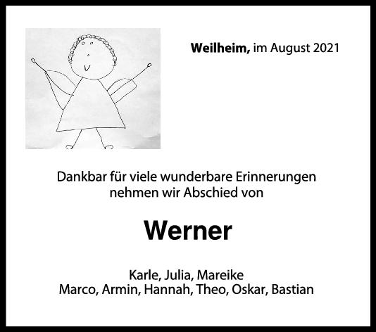 Trauer Werner <br><p style=