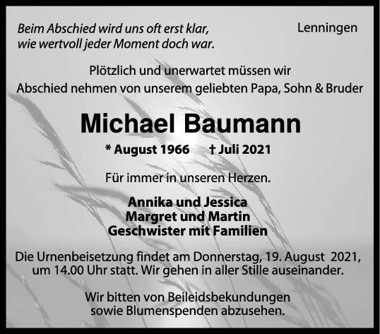 Trauer Michael Baumann <br><p style=