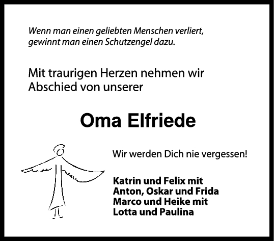 Trauer Oma Elfriede <br><p style=