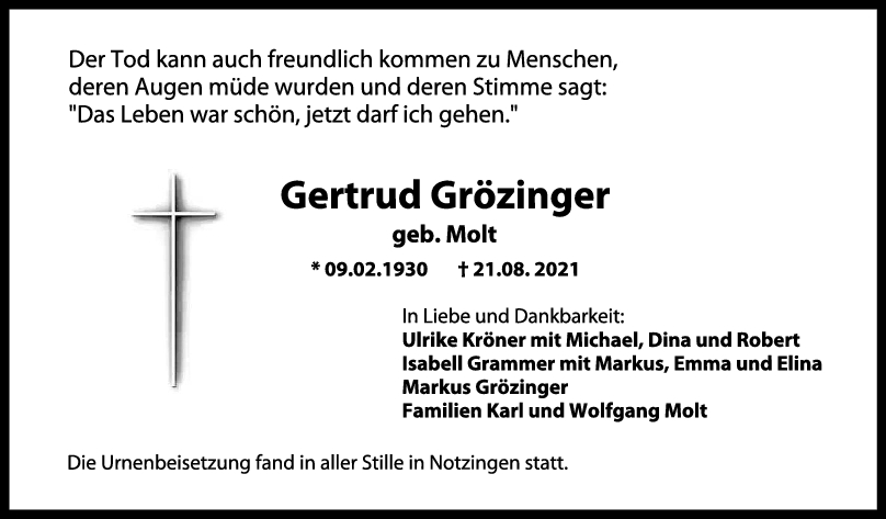 Gertrud grözinger <br><p style=