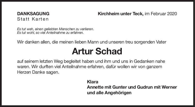 Danksagung Artur Schad <br><p style=