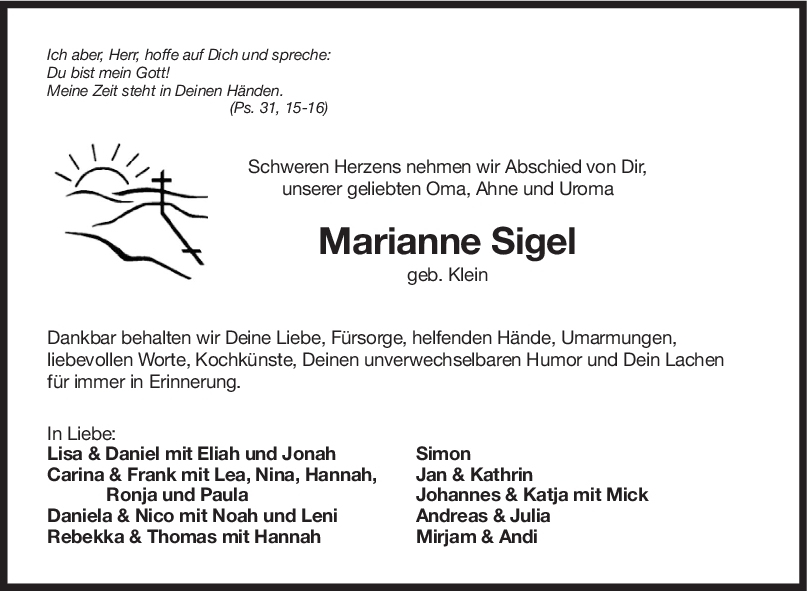 Trauer Enkel Sigel <br><p style=