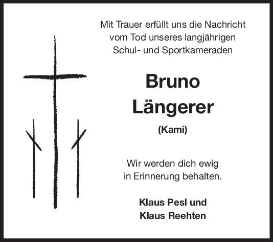 Nachruf Bruno Längerer <br><p style=