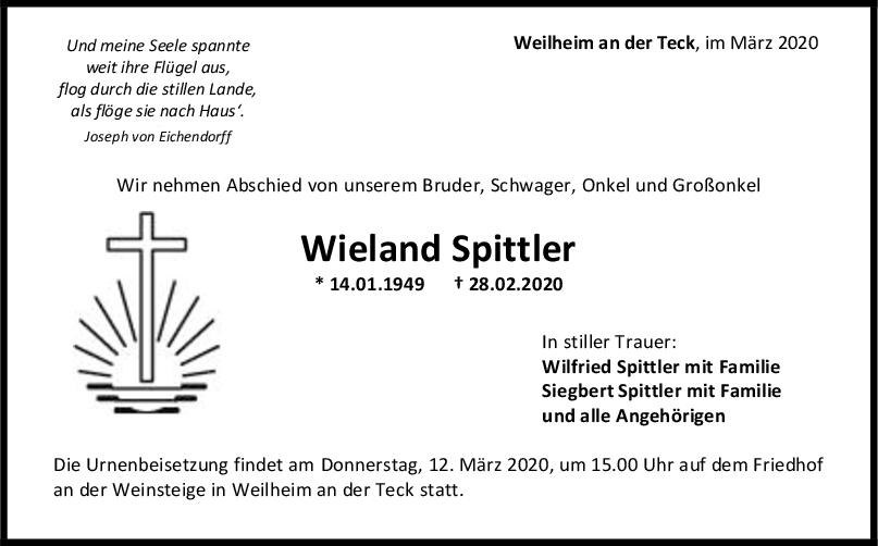 Trauer Wieland Spittler <br><p style=