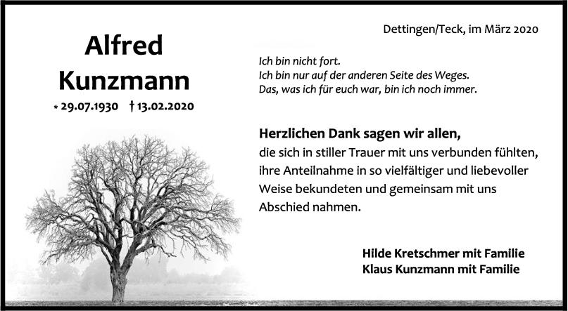 Danksagung Alfred Kretschmer <br><p style=