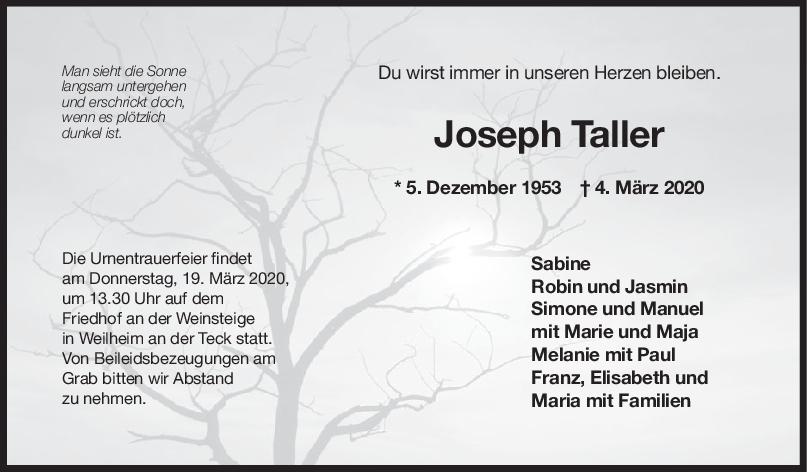Trauer Joseph Taller <br><p style=