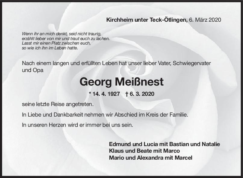 Trauer Georg Meißnest <br><p style=